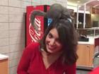 Esquilo urina na cabeça da repórter durante programa ao vivo nos EUA