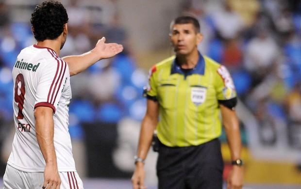 Fred, Gol anulado, Vasco x Fluminense (Foto: Dhavid Normando / Photocamera)