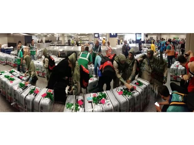 Aeroporto do Galeão espera quase 1,5 mil bagagens de atletas paralímpicos nesta segunda (Foto: Divulgação/Rio Galeão)