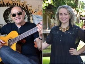 Amadeu Cavalcante e Brenda Melo farão show em homenagem à Macapá (Foto: Fabiana Figueiredo/G1, Gabriel Penha/G1)
