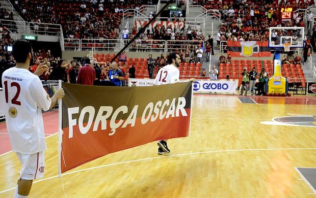 final basquete NBB Flamengo e uberlândia faixa oscar (Foto: André Durão / Globoesporte.com)