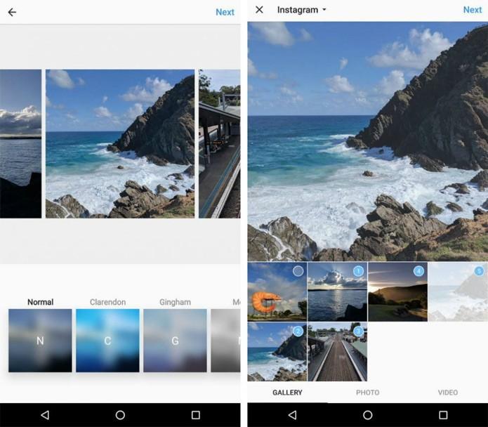 Instagram testa em segredo novo recurso de álbum de fotos (Foto: Reprodução/Droid Life)