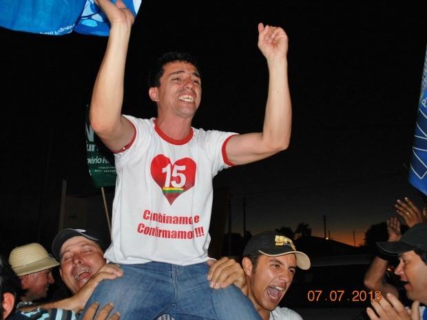 Neilo Cunha comemora vitória (Foto: Ruben Teixeira/Bela Vista MS)
