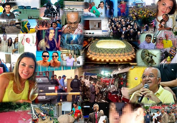 Copa do Mundo e eleições foram os grandes destaques em 2014 (Foto: Arte G1/AM)