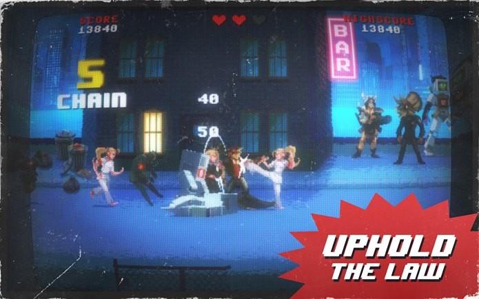 Kung Fury: Street Rage é pura ação oitentista (Foto: Divulgação)