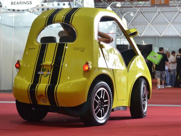 Nanico Car tem versão elétrica esperando parceiros para produção em larga escala (Foto: Peter Fussy/G1)