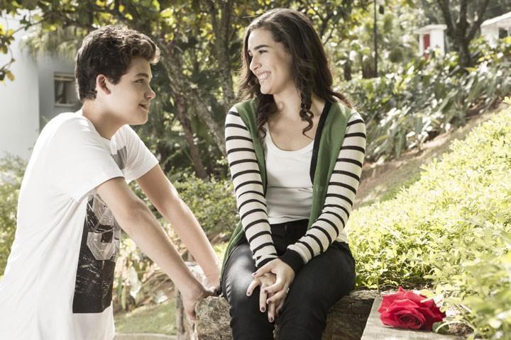 Lívian e Gabriel contam sobre sua relação com os fãs (Foto: Inácio Moraes/Gshow)
