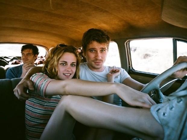 Sam Riley, Kristen Stewart e Garrett Hedlund em 'Na estrada' (Foto: Divulgação)