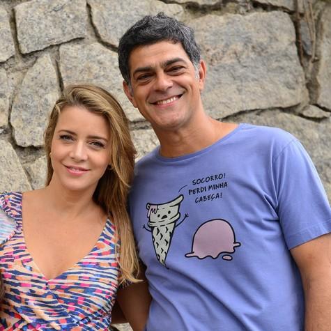 Christne Fernandes e Du Moscovis (Foto: Alex Carvalho/TV Globo)