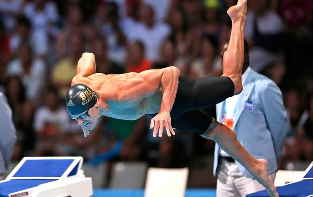 Cesar Cielo ouro 50m borboleta Mundial (Foto: Agência AP)