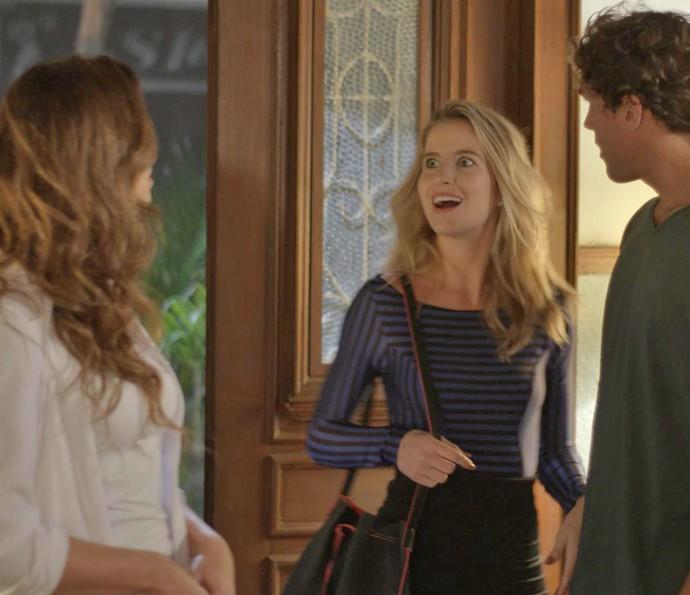 Na maior cara de pau, Bárbara manda a menina ir embora (Foto: TV Globo)