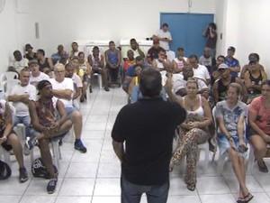 Reunião reuniu representantes de bandas e blocos (Foto: Reprodução / TV Tribuna)