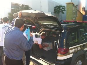 Operação em Bocaiuva (Foto: Valdivan Veloso)