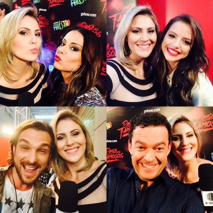 Jessica Leão e os participantes da Dança dos Famosos 2015  (Foto: Reprodução / TV Diário)