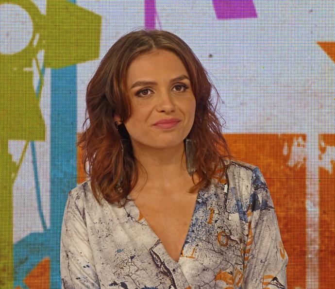 Monica Iozzi faz piada ao vivo no 'Vídeo Show' e diz que está 'na pista' (Foto: Cristina Cople / TV Globo)