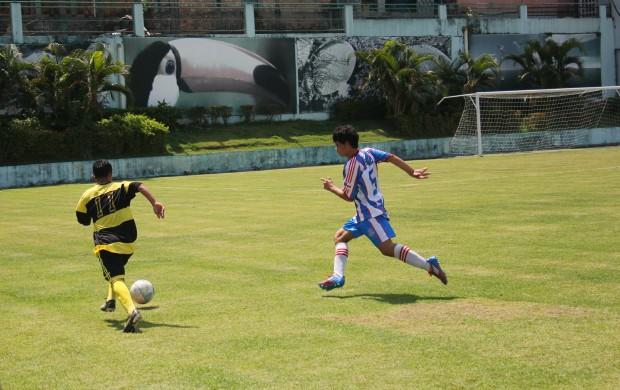 Jogo entre Clipper e Sul America na abertura do Campeonato Amazonense infantil (Foto: Alírio Lucas)