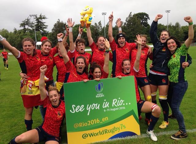 Time feminino de rúgbi da Espanha conseguiu vaga na Rio 2016 (Foto: World Rugby)