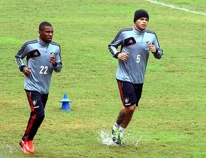 Edinho e Rhayner treino Fluminense (Foto: Nelson Perez / Fluminense. F.C.)