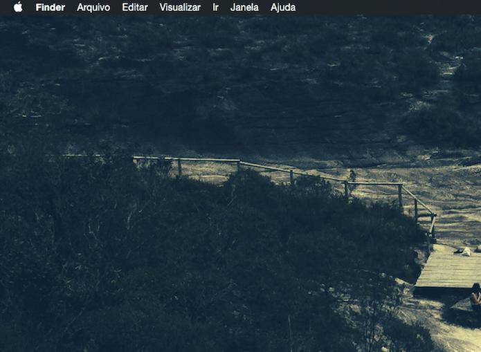 Modo Dark Mode ativado no Mac OS X Yosemite (Foto: Reprodução/Marvin Costa)