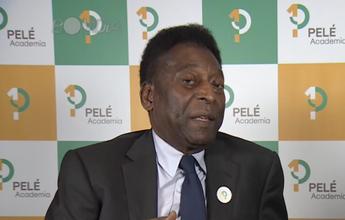 Em encontro com Pelé, Bolt diz que desbancaria o Rei se jogasse futebol