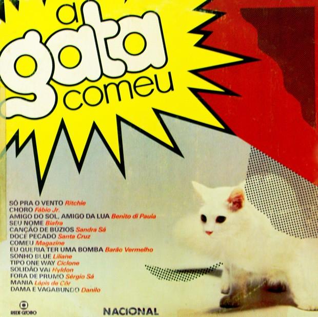 Capa do disco com a trilha nacional de A Gata Comeu (Foto: reproduo)
