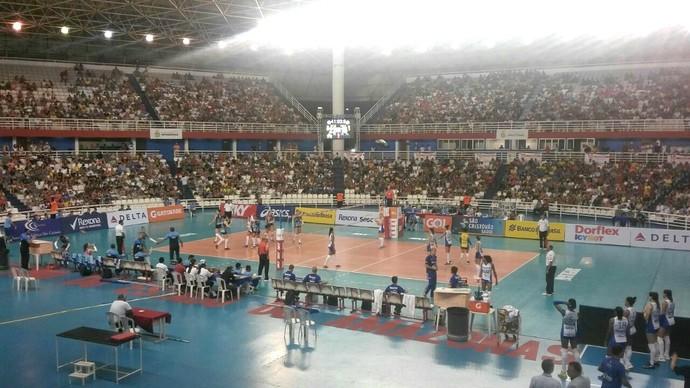 São Caetano e Rio de Janeiro Superliga feminina Manaus (Foto: Marcos Dantas)