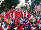 Salvador tem manifestação contra o presidente em exercício Michel Temer