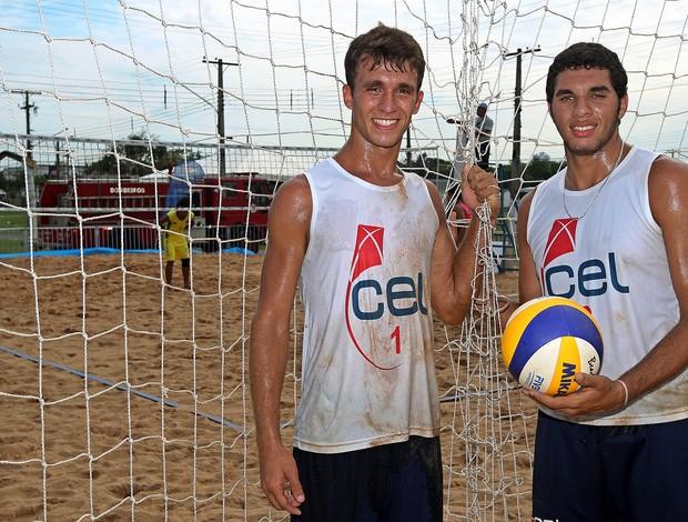 Alunos do CEL vôlei de praia Olimpíadas Escolares (Foto: Andre Mourao/AGIF/COB)