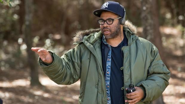 Diretor Jordan Peele nos bastidores do filme (Foto: Divulgao)