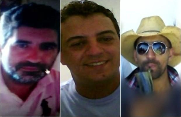 Denivaldo, Wesley e Fabrício foram mortos a tiros em Quirinópolis, Goiás (Foto: Reprodução/TV Anhanguera)