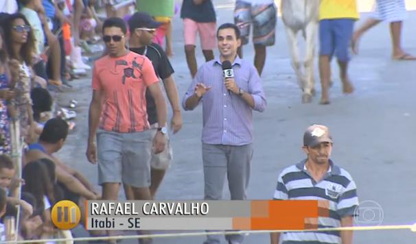 Rafael Carvalho foi até o evento para mostrar os detalhes (Foto: Divulgação / TV Sergipe)