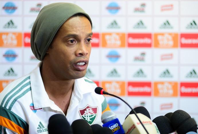 Ronaldinho, entrevista coletiva Fluminense (Foto: Agência Estado)