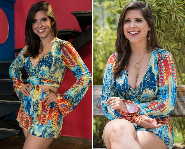 Quando Nasser diz que look de Andressa não combinou, é sinal de ciúme! (Foto: Camila Serejo / Gshow)