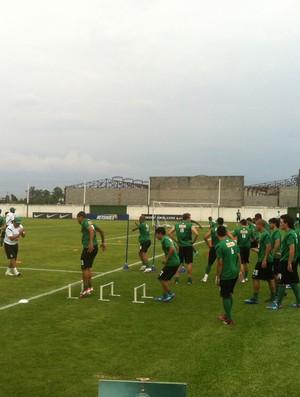 Coritiba treina no CT da Graciosa (Foto: Gabriel Hamilko / GloboEsporte.com)
