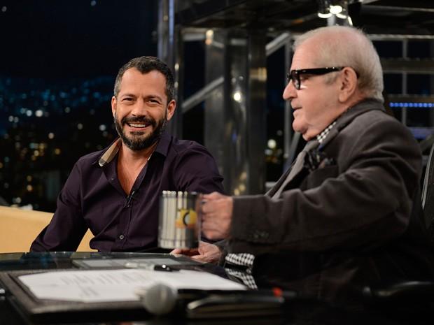 Malvino Salvador participa da gravação do 'Programa do Jô' (Foto: TV Globo/Programa do Jô)