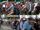 Fruet cumpre promessa e vai à Prefeitura de bicicleta para assumir