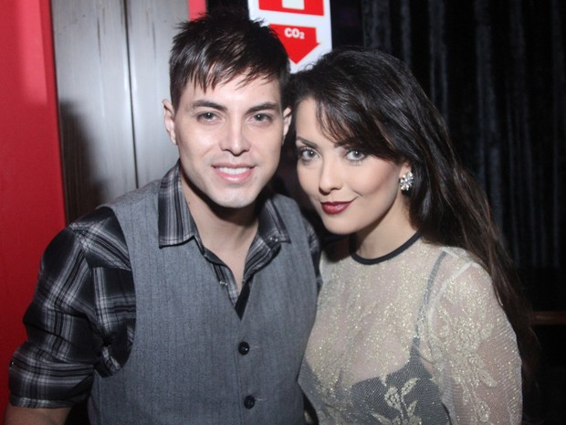 Patricia Lissah com o marido, Matheus Herriez, em show em São Paulo (Foto: Thiago Duran/ Ag. News)