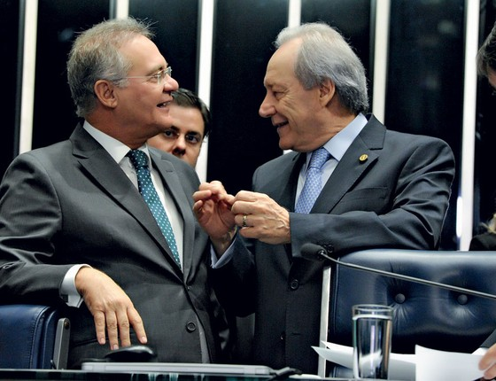 O presidente do Senado Renan Calheheiros  e do Supremo Ricardo Lewandowski  (Foto:  Agencia Senado)