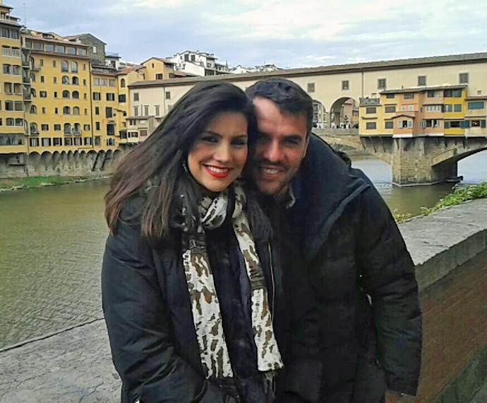 Os dois conhecendo Florença (Foto: Arquivo Pessoal)