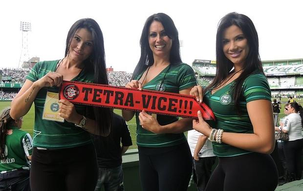 Coritiba tetracampeão torcida provoca Atlético-PR nas redes sociais (Foto: Luiz Carlos Betenheuser Júnior)