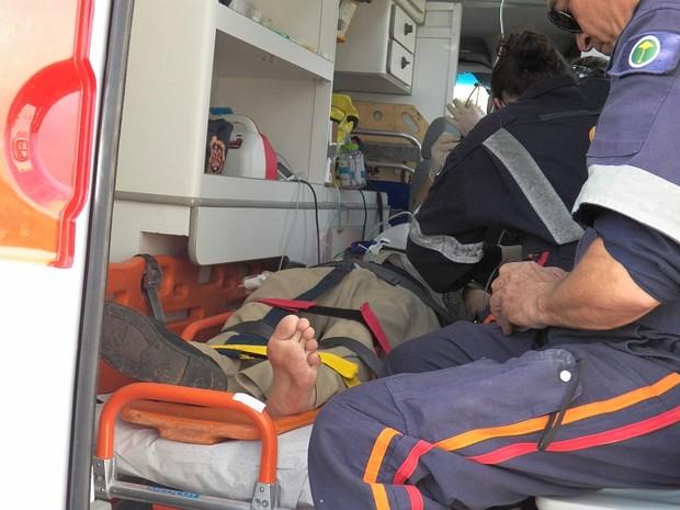 Idoso foi levado para a Santa Casa de São Carlos em estado grave (Foto: Valdir Penteado/Arquivo pessoal)