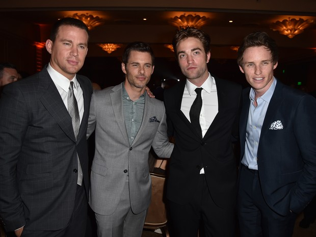 Channing Tatum, James Marsden, Robert Pattinson e Eddie Redmayne em evento em Los Angeles, nos Estados Unidos (Foto: Kevin Winter/ Getty Images/ AFP)