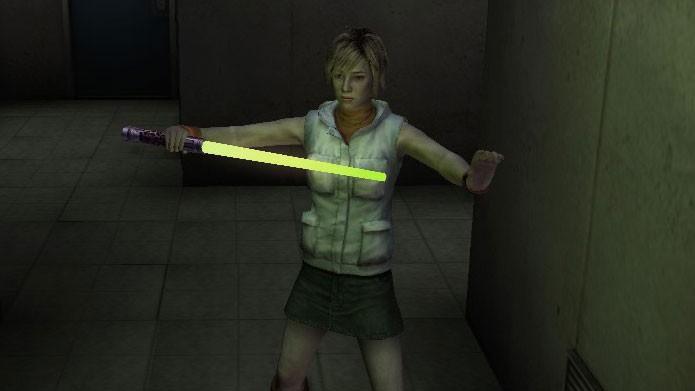 O sabre de luz (Beam Saber) é uma das armas extras de Silent Hill 3 (Foto: Reprodução/Silent Hill Wikia)