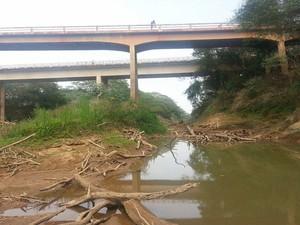 Rio São Francisco está abaixo do nível normal (Foto: Anna Lúcia Silva/G1)