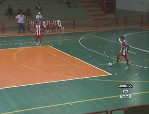 Futsal Acre no ginásio do Sesi (Foto: Reprodução/TV Acre)