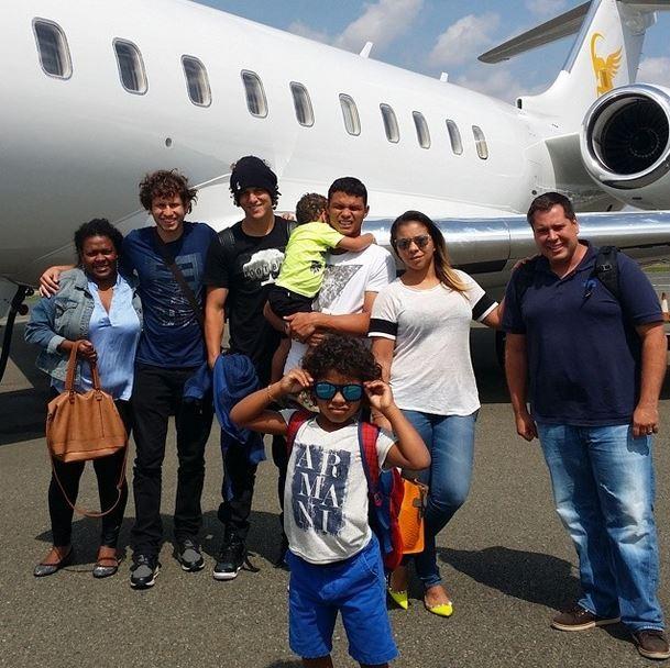 Belle Silva, Thiago Silva, David Luiz (Foto: Instagram/Reprodução)