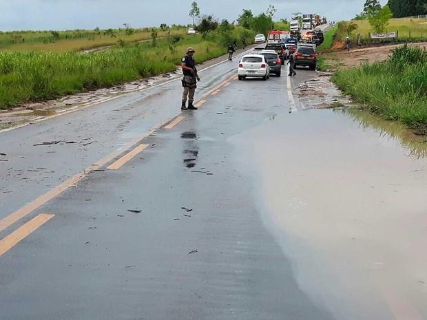 Rodovia onde ocorreu acidente om viatura da PRF na Bahia (Foto: Divulgação/PRF)