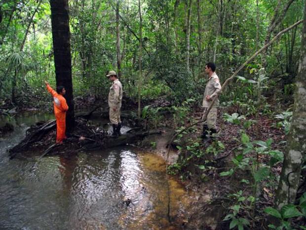 Buscas seguiram a 16 km de onde Leonel Vieira desapareceu (Foto: João Carlos Lopes/Defesa Civil de Talismã)