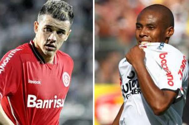 Elias e D'Alessandro se encontram na partida entre Inter e Corinthians. (Foto: Montagem / Globoesporte.com)