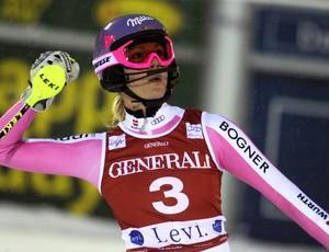esqui alpino slalom Maria Hoefl-Riesch Copa do Mundo de Levi (Foto: AP)